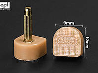 BISSELL шт. 2.2 мм,  р 9*10 мм, цв. бежевый набойки полиуретановые