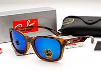 Солнцезащитные очки Ray Ban RB 4197  коричневые с синими линзами