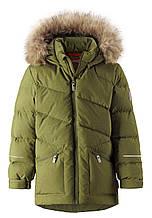 Зимняя куртка пуховик для мальчика Reima Leiri 531417-8930. Размеры 116 - 158.