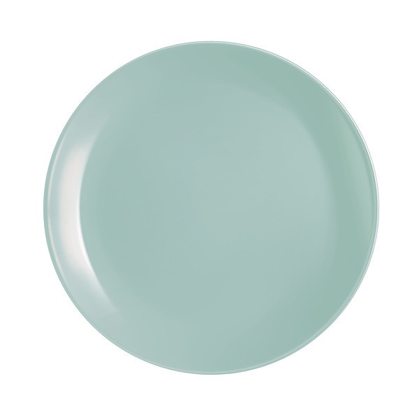 Тарелка обеденная Luminarc Diwali Turquoise круглая без борта d25 см стеклокерамика (2611P)