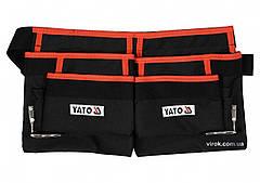 Пояс з 4 кишенями для інструментів і 2 петлями для молотків YATO YT-74001