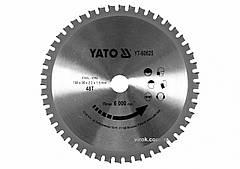 Диск пиляльний по металу YATO: Ø= 185x2.2x20 мм, 48 зубців, R.P.M до 6000 1/хв YT-60625