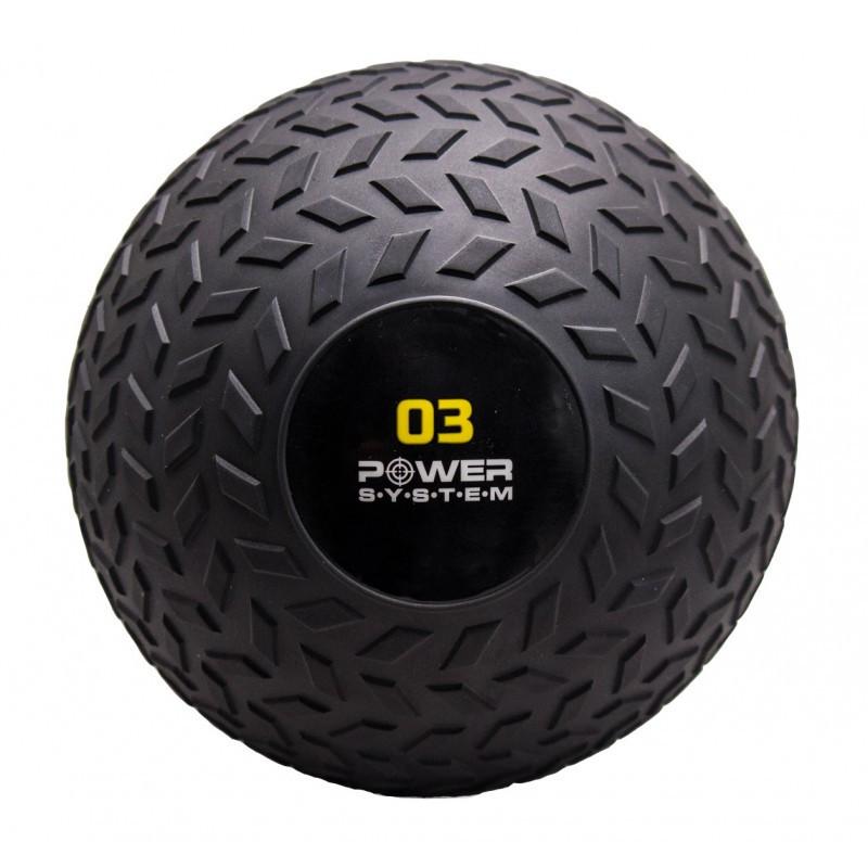 Мяч SlamBall для кросфита и фитнеса PS-4114 3 кг рифленый - 190151