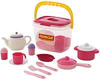 """Polesie. Набор детской посуды """"Настенька"""" на 4 персоны (29 элементов) (в ведёрке) (4810344056573)"""