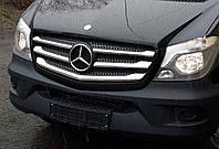 Накладка на решетку Mercedes sprinter 906 (мерседес спринтер 906), 2013+ , нерж