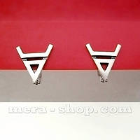 Символ Велеса серёжки из серебра, фото 1