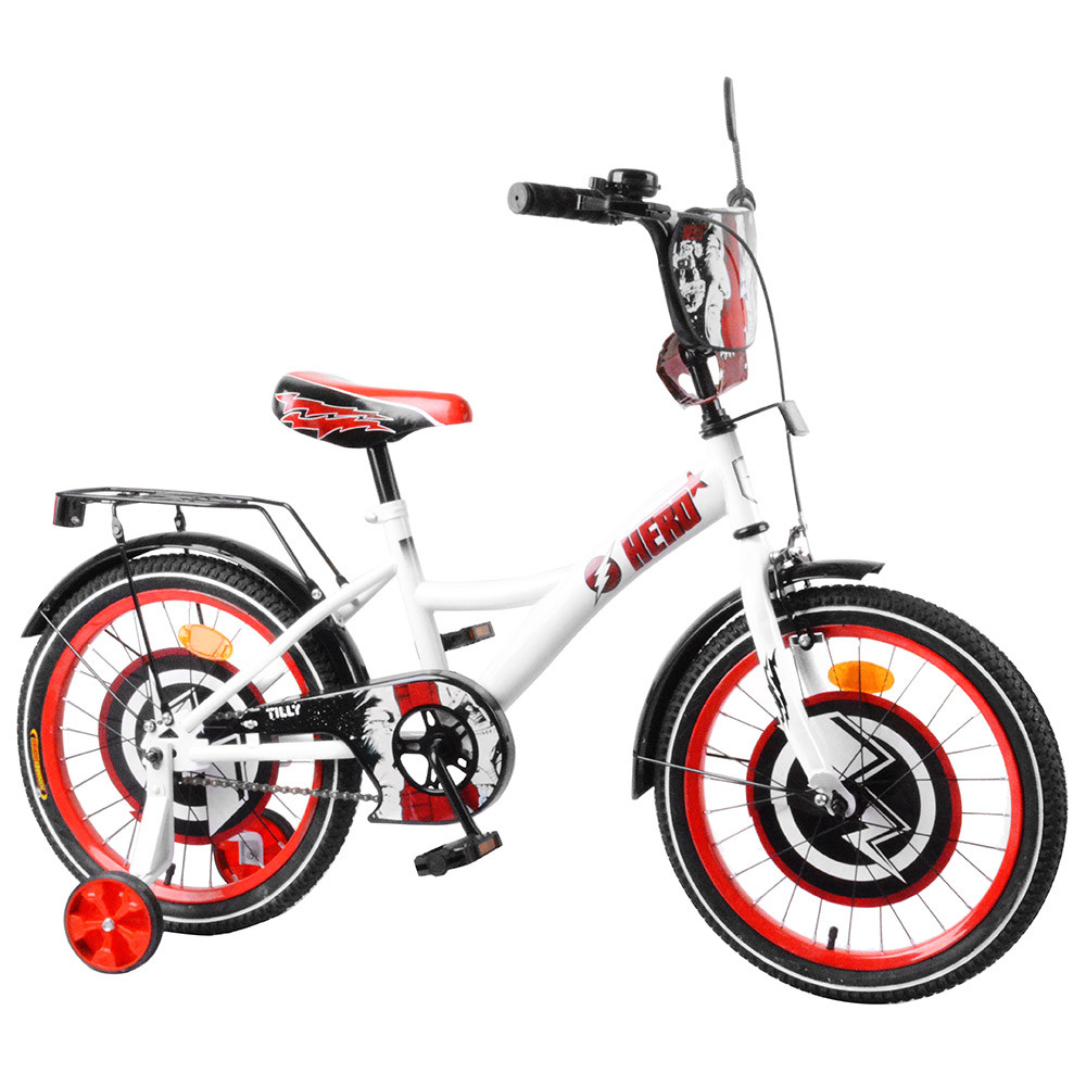 """Велосипед TILLY Hero 18"""" T-218212 white + red /1/"""