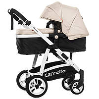 Коляска универсальная CARRELLO Fortuna CRL-9001 Silk Beige 2в1 c матрасом /1/ MOQ