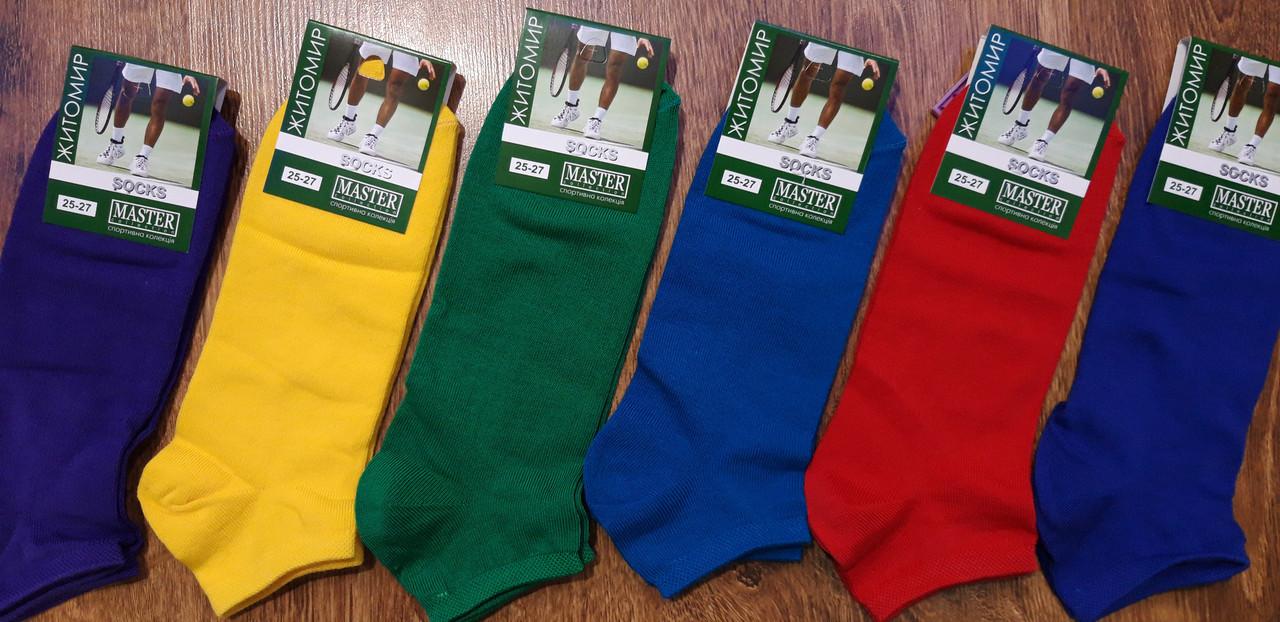 Шкарпетки чоловічі короткі,стрейчеві «MASTER», м.Житомир,яскраві