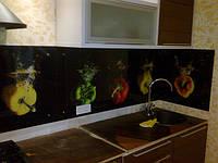 Стеновая панель для рабочей стенки кухни из стекла с фотоизображением