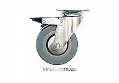 Колесо до візка гумове Ø=125 мм b=27 мм VOREL з обертовою опорою h=161 мм навантаження - 50 кг