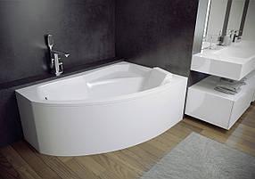 Акриловая ванна Rima 130х85 (правая) Besco PMD Piramida с ножками и панелью