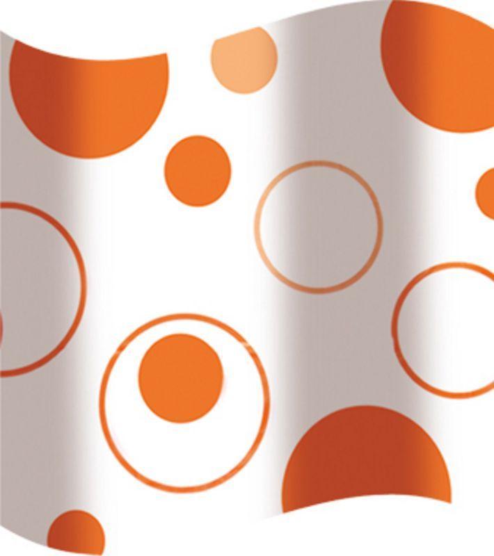 Шторка для ванної оранжеві кола AWD02100817