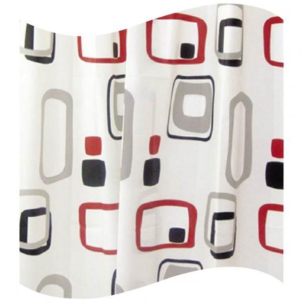 Шторка для ванної кольорові прямокутники AWD02101107