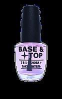 Лечение для ногтей La krishe   Gelish effect 2 в 1 основа и закрепитель 15 мл (Base + Top), фото 1