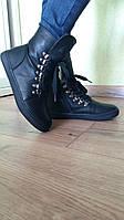 Демисезонные черные ботинки. Размеры 32-37