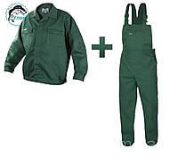 Костюм рабочий Artmaster полукомбинезон+куртка (зеленый)