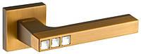 Дверные ручки FUARO CRYSTAL FLASH DM CF-17 кофе