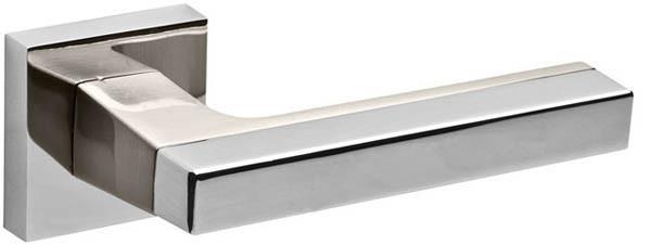 Дверные ручки FUARO FLASH DM SN/CP-3-матовый никель/хром, фото 1