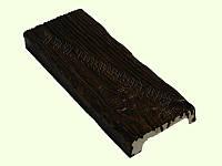Панель декоративная 12*3,5см, темный рустик, Decowood
