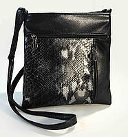 Сумка-планшет женская черная комбинированная код 9-2