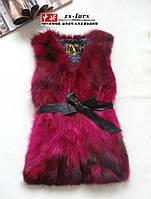 Меховой жилет чернобурка енот 3 длины 6 цветов супер цена