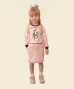 Спідниця дитяча з бахромою персик двухнитка