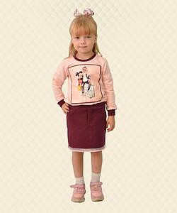 Спідниця для дівчинки з бахромою вишнева двухнитка