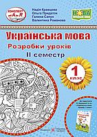 Разработки уроков. Украинский язык 1 класс (к учебнику Кравцовой II семестр)