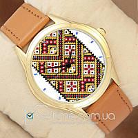 Часы мужские наручные с принтом Желтая Вышиванка