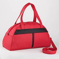 Спортивна сумка Kotico Sport 43х23х16 см червоно-чорна флай, фото 1