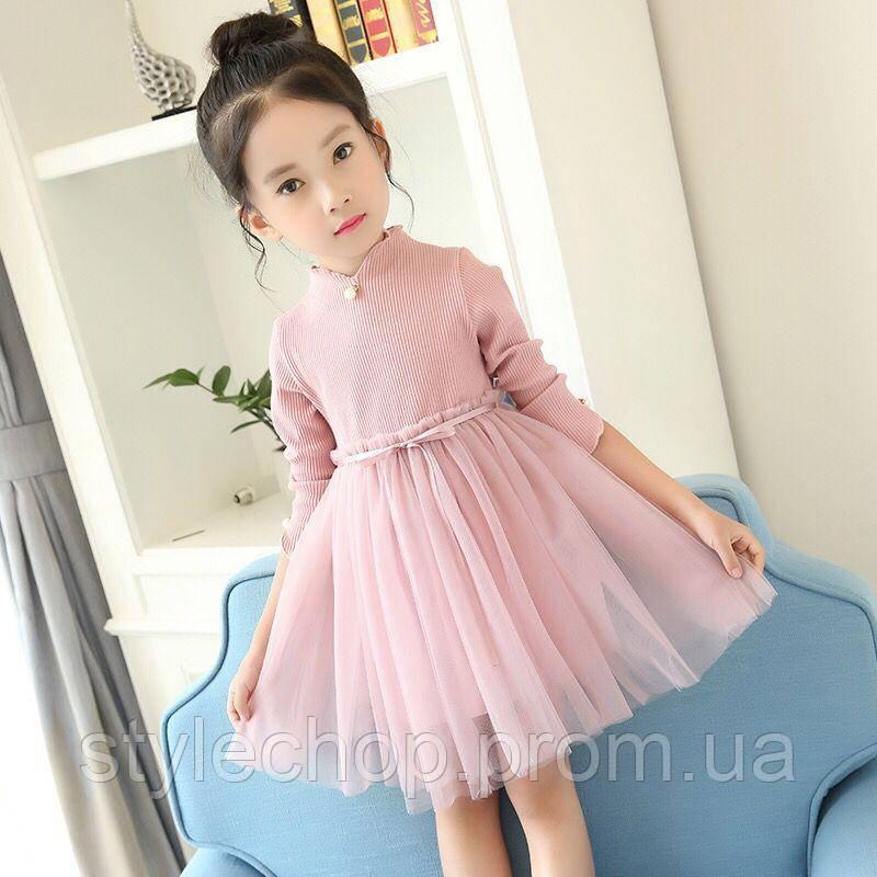Плаття дитяче рожеве з пишною спідницею