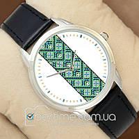 Часы мужские наручные с принтом Зеленая Вышиванка