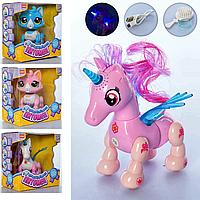 Музыкальная интерактивная игрушка для детей Единороги и Кошечка E5599-8-9 Смышленый питомец