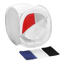 Лайт куб Mircopro LT-011 40х40х40 см белый с 4 фонами (LT-011_404040)