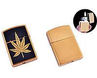 Зажигалка кремниевая Cannabis