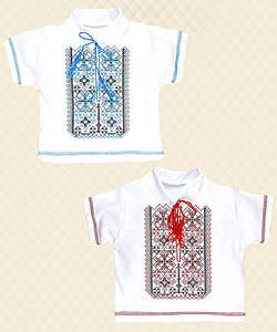 Рубашка Вышиванка-4 для мальчика короткий рукав интерлок