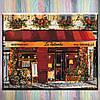 """Картины по номерам, холст на подрамнике, Городской пейзаж """"Яркий ресторанчик"""",  40*50 см, без коробки"""