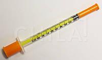 Шприц инсулиновый 1 мл U-100 c интегрированной иглой 30G (0,3х13 мм) 180 шт/уп