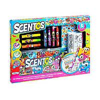 Ароматный набор для творчества - ЗАБАВНАЯ КОМПАНИЯ маркеры, воск.карандаши, наклейки, раскраска 42135 Scentos