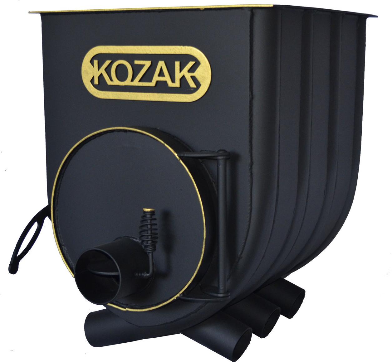 """Булерьян с варочной поверхностью KOZAK на 120 м3"""" с вторичной камерой дожига высоким КПД 75%"""