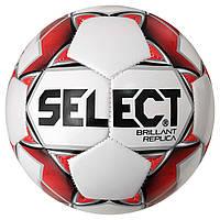 Мяч футбольный SELECT Brillant Replica (316) бел/красн размер 3, фото 1