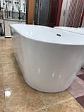 Отдельностоящая акриловая ванна с ножками Dusel DU103, 1700x800х580 мм, фото 5