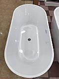 Отдельностоящая акриловая ванна с ножками Dusel DU103, 1700x800х580 мм, фото 6
