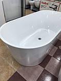 Отдельностоящая акриловая ванна с ножками Dusel DU103, 1700x800х580 мм, фото 7