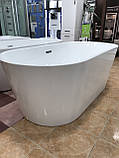 Отдельностоящая акриловая ванна с ножками Dusel DU103, 1700x800х580 мм, фото 8