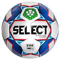 Мяч футбольный SELECT Brillant Super FIFA PFL (012) бел/синий  размер 5