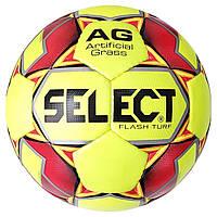 Мяч футбольный SELECT Flash Turf (013) желт/красн размер 4, фото 1