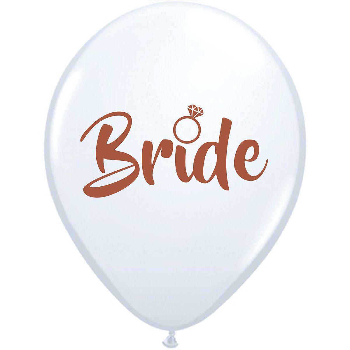 """Латексні кулі круглі 14"""" невеста """"bride"""" на девичник"""