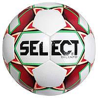 Мяч футбольный SELECT Talento (304) бел/красн, размер 5